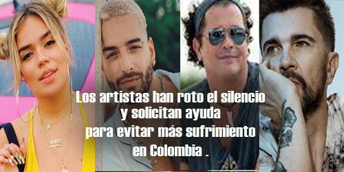 Los artistas han roto el silencio y solicitan ayuda para evitar más sufrimiento.